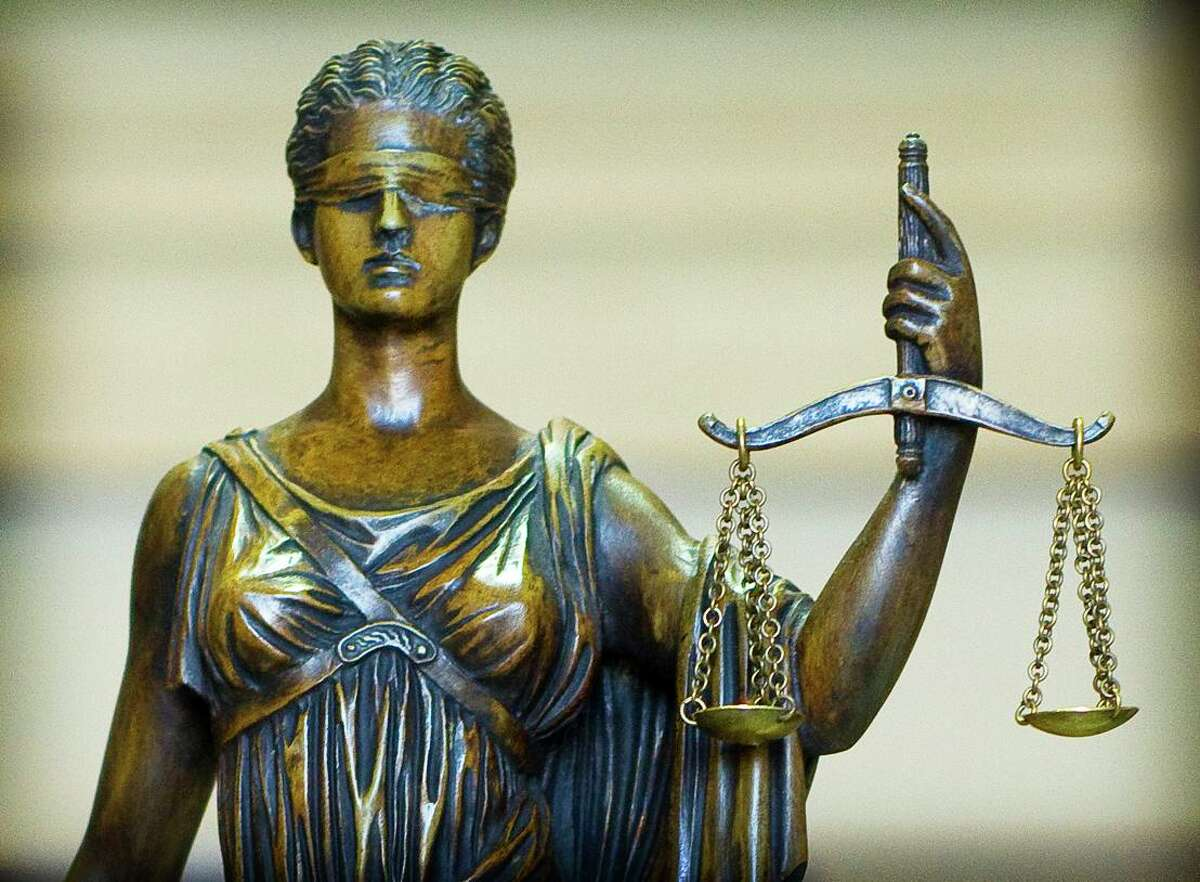A file photo of the scales of justice.