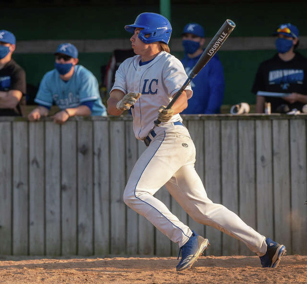 LCCC's Billy Beckham, a freshman outfielder from Litchfield, has hit a pair of home runs with nine RBIs heading unto Tuesday's game at St. Charles.
