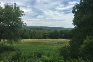 The newest stretch of the Air Line Trail in Portland and East Hampton features expansive valley views.