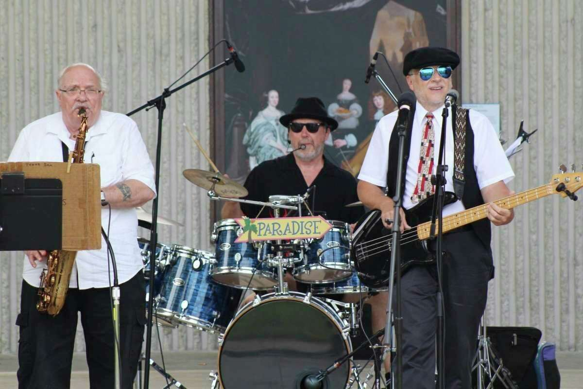 In this file photo, the Paradise Band performs before a large crowd in Hemlock Park in Big Rapids during the 2019 Bands, Brews & BBQ Festival. This year's festival is set to take place July 10. (Courtesy Photo)
