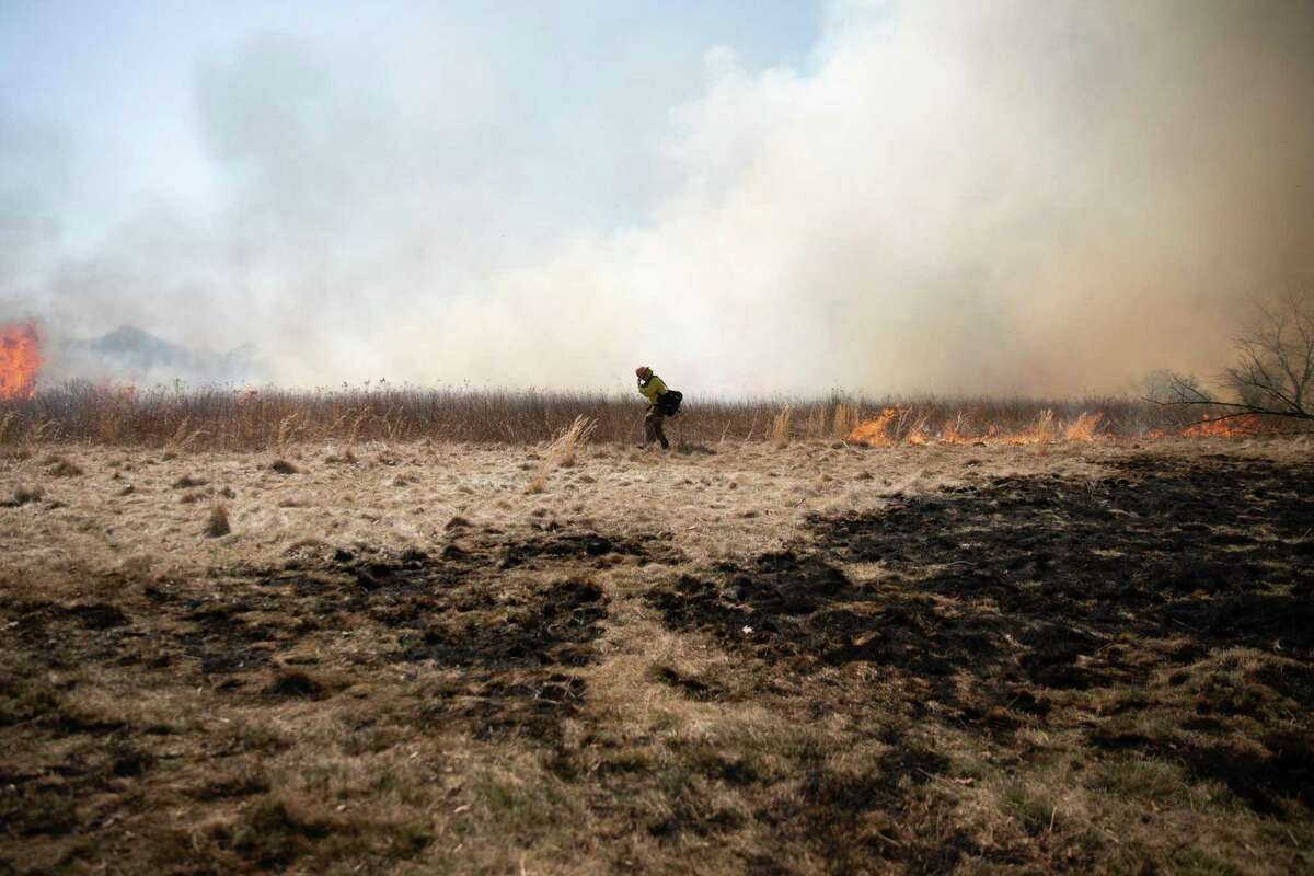 A controlled burn is planned for April 7 at Mohawk Mountain in Cornwall. Above, a controlled burn in Connecticut.