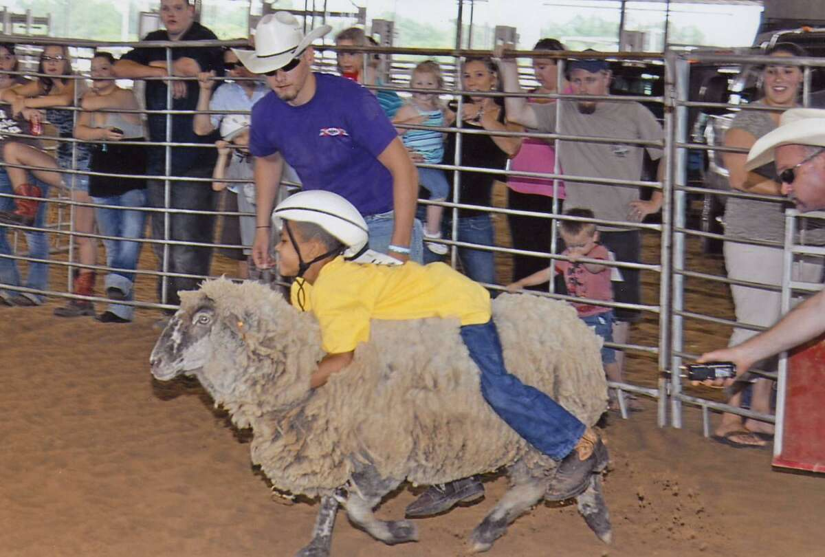Mutton Bustin' is returning to the Pasadena Strawberry Festival this year. Here, a youngster gets a ride during the 2011 festival.