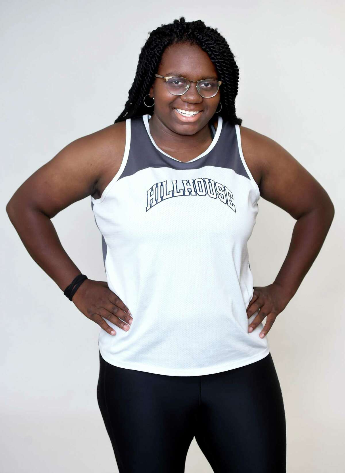 All-Area track and field athlete Leah Moore of Hillhouse High School photographed on June 19, 2019.