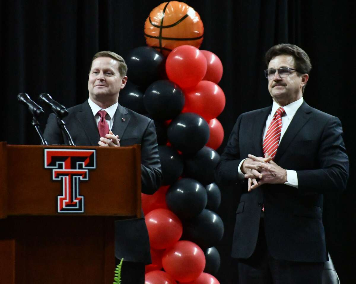 Mark Adams was officially introduced as the new head coach of the Texas Tech men's basketball team on Tuesday night in United Supermarkets Arena at Lubbock.