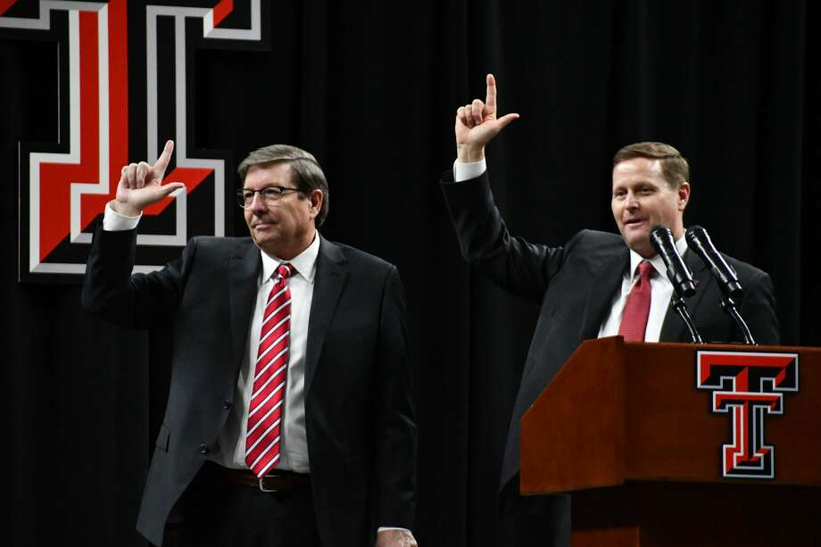 Mark Adams was officially introduced as the new head coach of the Texas Tech men's basketball team on Tuesday night in United Supermarkets Arena at Lubbock. Photo: Nathan Giese/Planview Herald