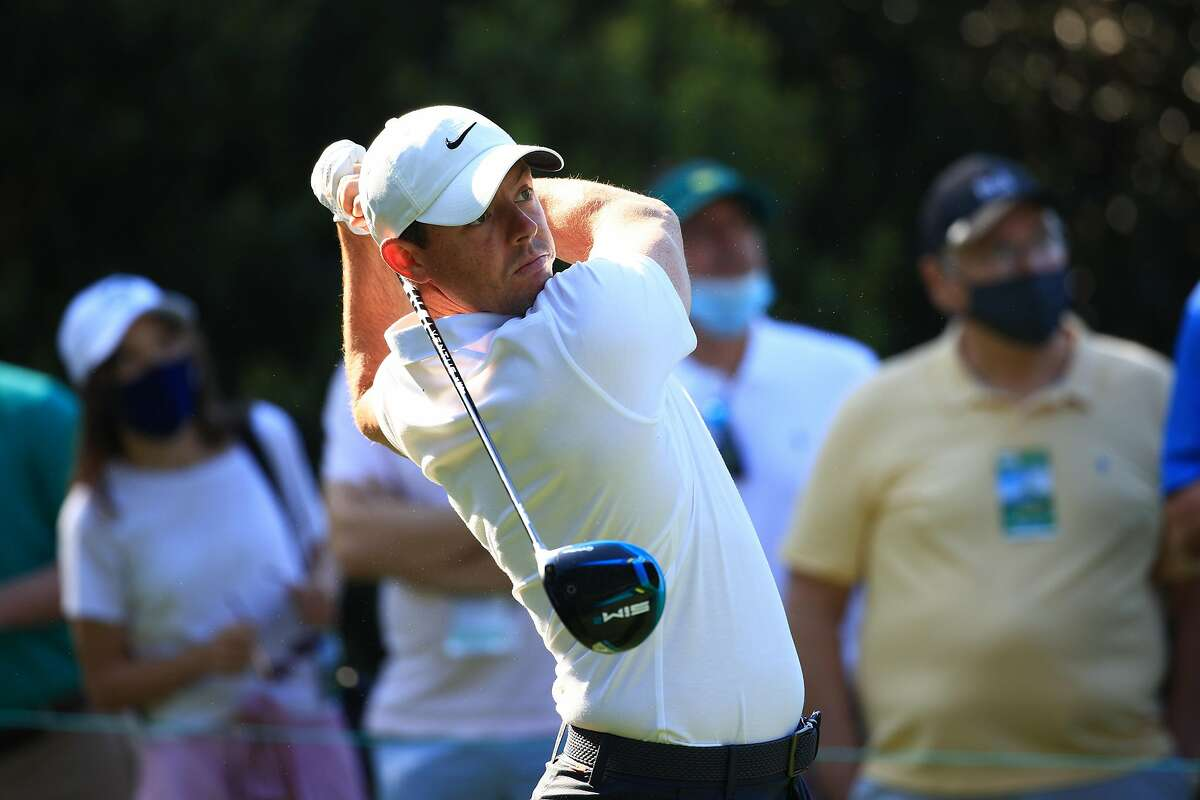 Rory McIlroy, who is looking to complete a career Grand Slam, goes through a practice round at Augusta National on Tuesday.