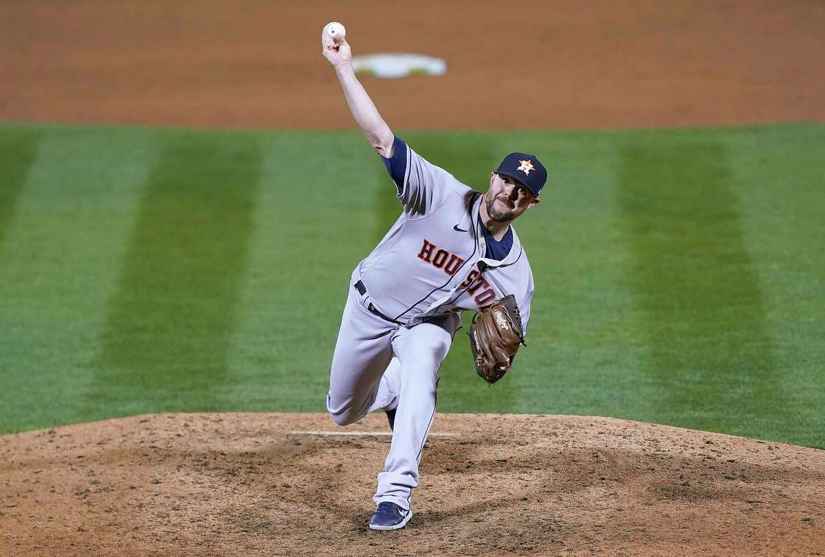 Before Tuesday's eighth inning in Anaheim, Ryan Pressly hadn't pitched since the season's second game in Oakland.
