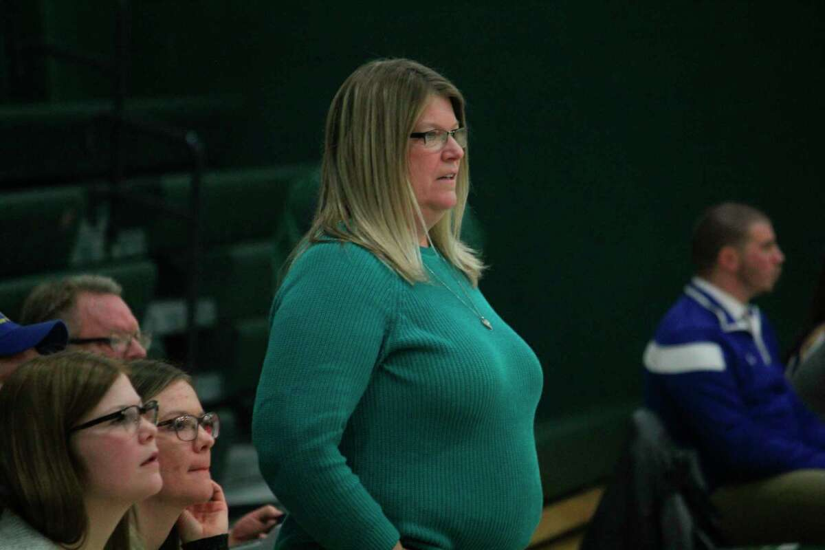 Paula Justin completed her second year as Pine River girls basketball coach. (Pioneer photo/John Raffel)