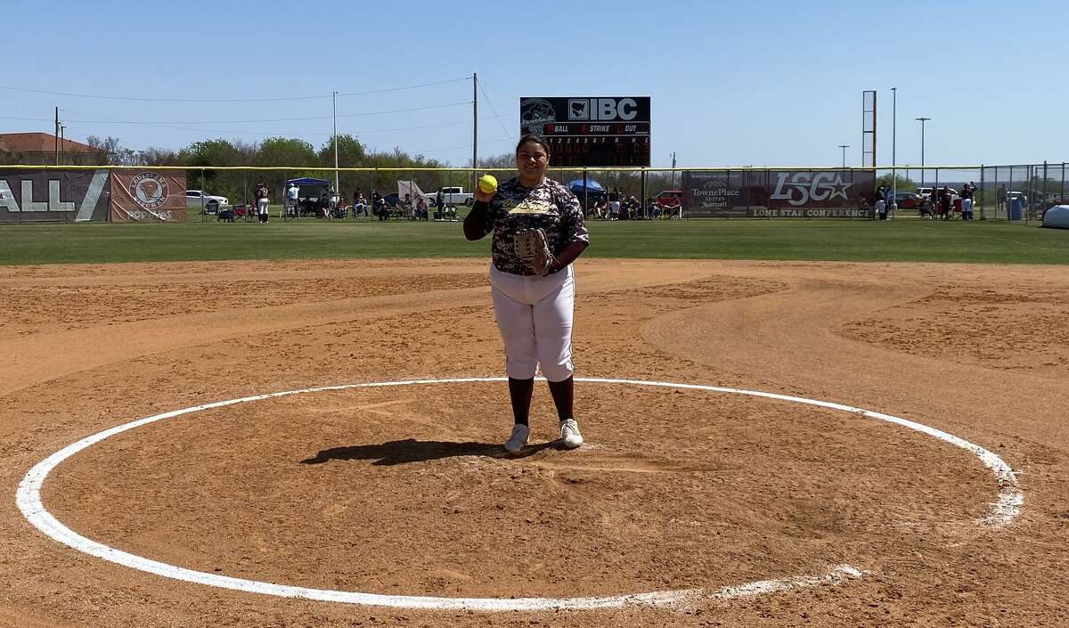 Texas A&M International sophomore pitcher Erika Cortez was named Lone Star Conference Pitcher of the Week for the third time on Tuesday.