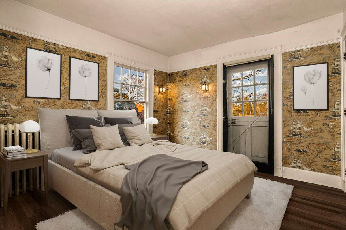 Master bedroom with private balcony at 88 Stratfield Road, Fairfield.