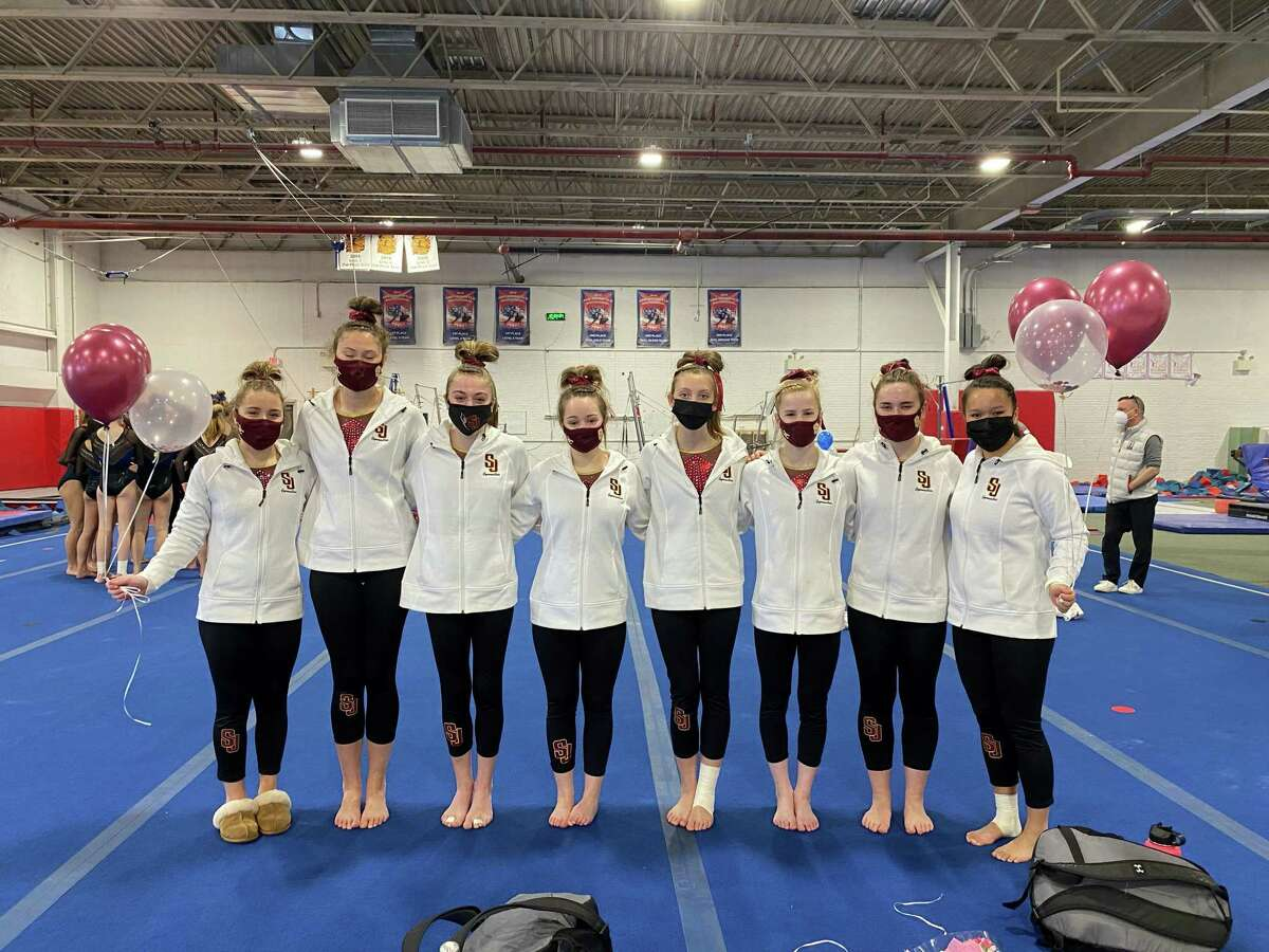 St. Joseph won the FCIAC regular season girls gymnastics title and coach Celina Huber was named an FCIAC Coach of Excellence. St. Joseph placed fourth at the league championships. Team members are Caitlin Vozzella, Alex Murawski, Mariana Wegiel, Justine Turcotte, Grace DeDonato, Lindsay Capobianco, Caitlyn Kelly, Anna Hughes and (not pictured) Jules Rizzitelli.