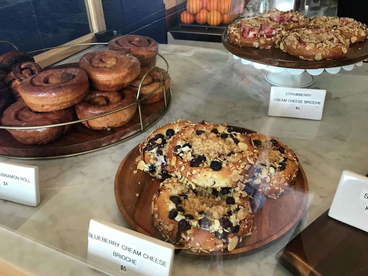 The pastry case at Extra Fine is full of sweet surprises.