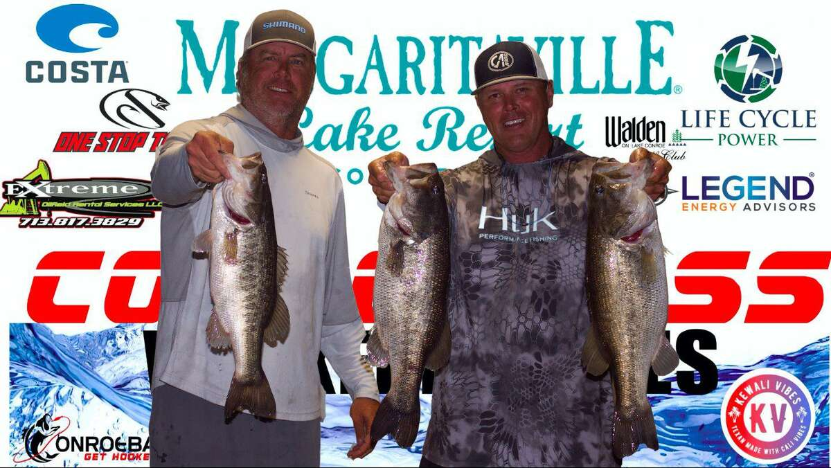 Trea Luedke and Ronnie Wagner won the CONROEBASS Tuesday Tournament with a total weight of 18.69 pounds.