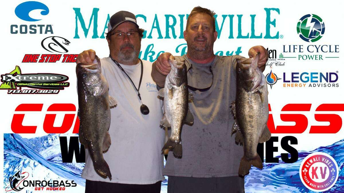 Scott Peterson and Scott Offenbeche claimed second place in the CONROEBASS Tuesday Tournament with a total weight of 15.13 pounds.