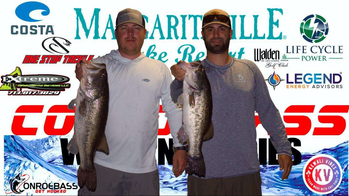Brian Phipps and Preston Wittenburg came in third place in the CONROEBASS Tuesday Tournament with a total weight of 13.27 pounds.