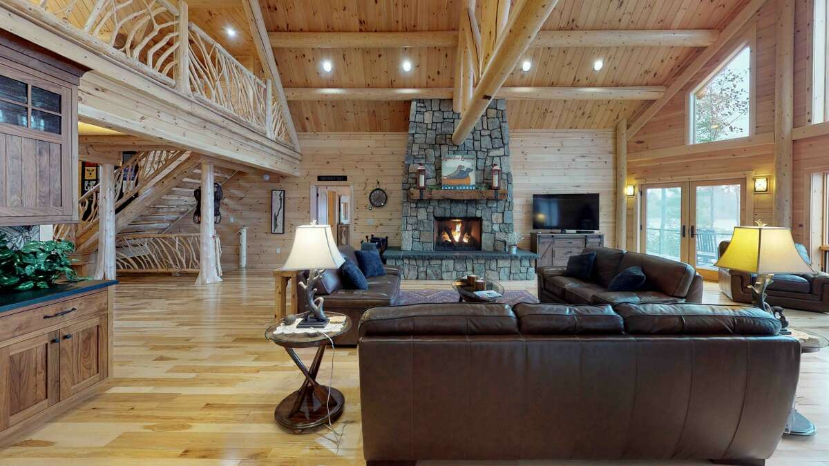 The great room in Paul Rutherford's Lake George property. purchased the old Diamond Village Resort in Lake George and turned it into a personal property for himself and his family.