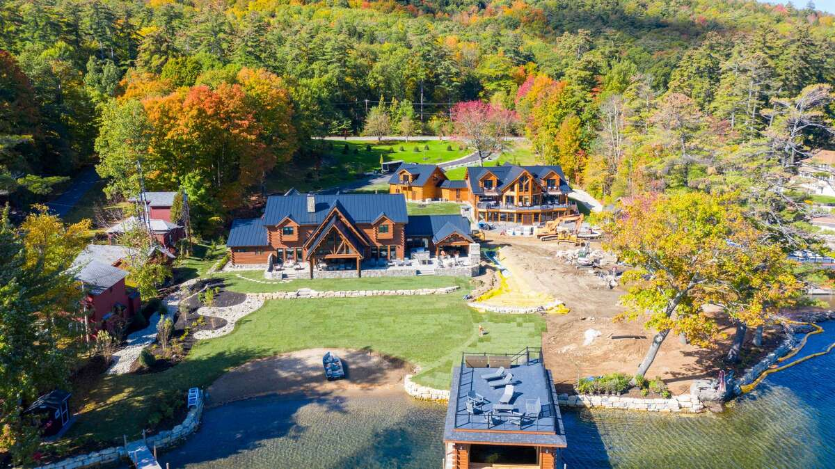 Paul Rutherford purchased the old Diamond Village Resort in Lake George and turned it into a personal property for himself and his family. Here, a drone shot of the remodeled property.