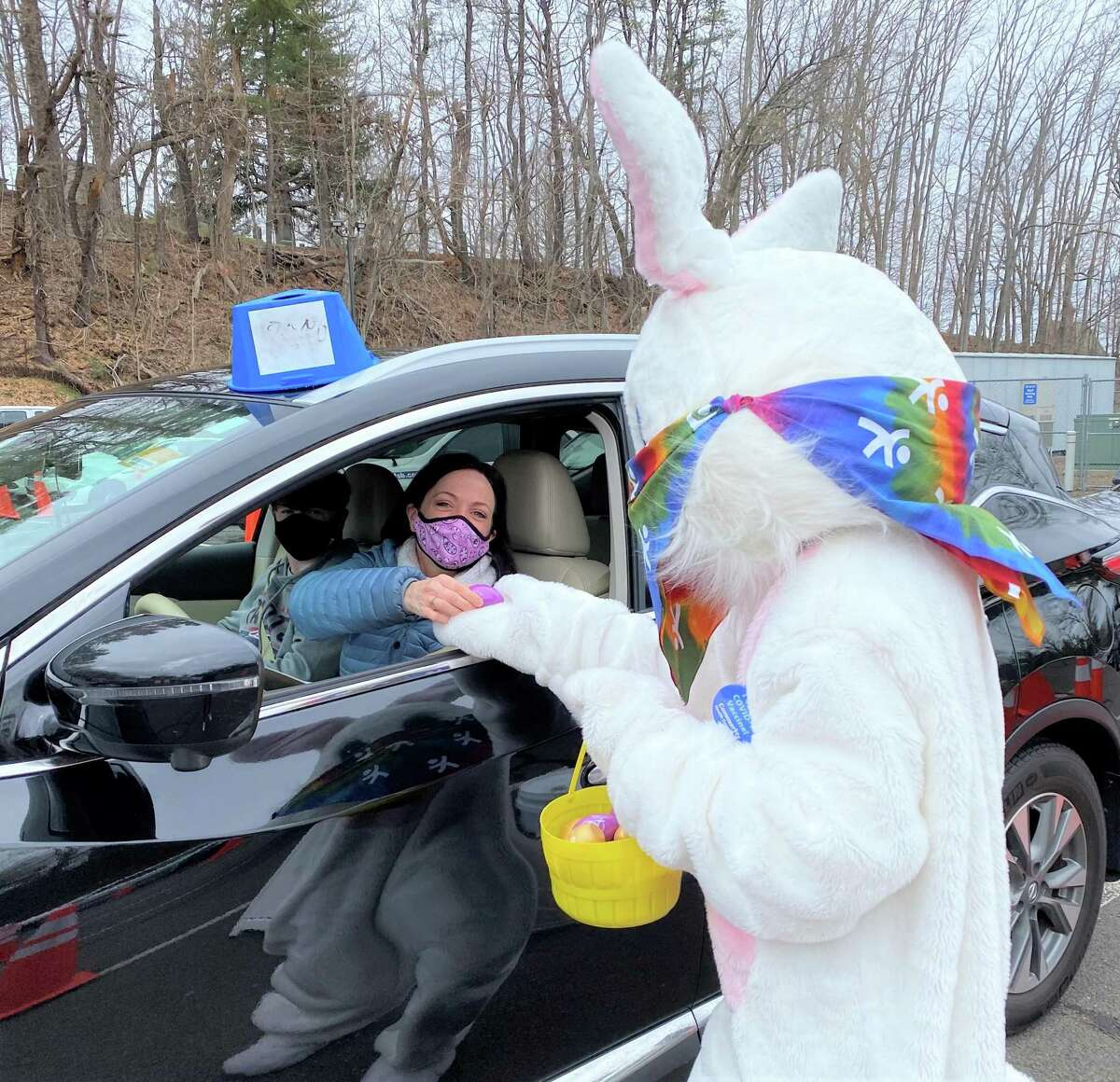 The Middletown-based Community Health Center received an unexpected delivery of 800 purple and gold wooden Easter Eggs directly from the White House Friday.