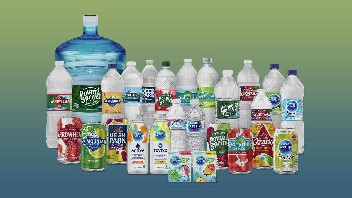 Nestle Waters North America, the company that produces the pictured bottled-water brands, has changed its name to BlueTriton Brands.