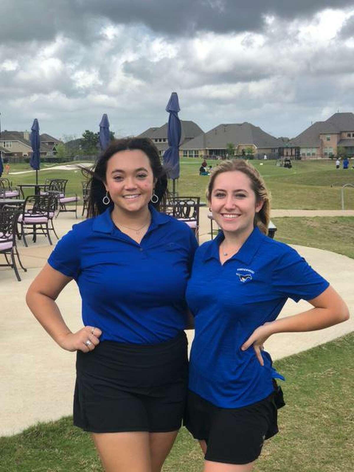 Friendswood's Lauren Epperson (left) and Kamden Estlinbaum will compete as medalists in the Region III-5A golf tournament next week in College Station