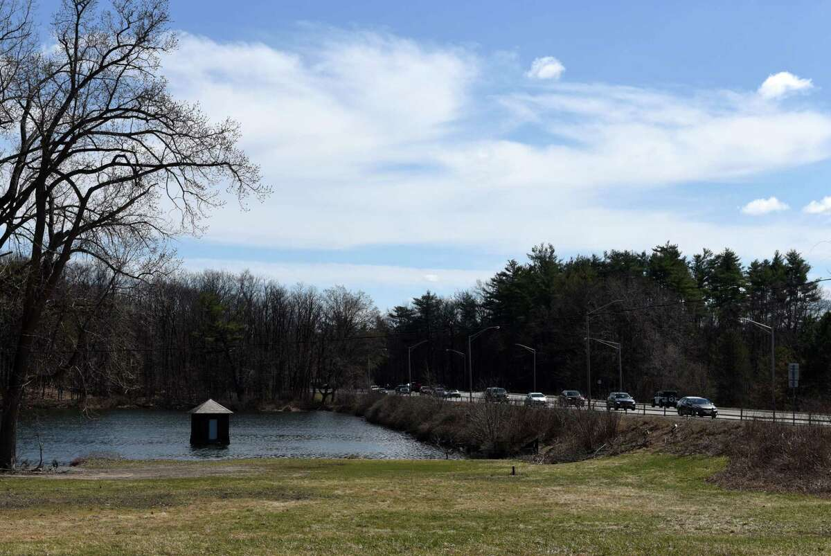 Loughberry Lake at Route 50 and Marion Avenue on Wednesday, April 7, 2021, in Saratoga Springs, N.Y. (Will Waldron/Times Union)