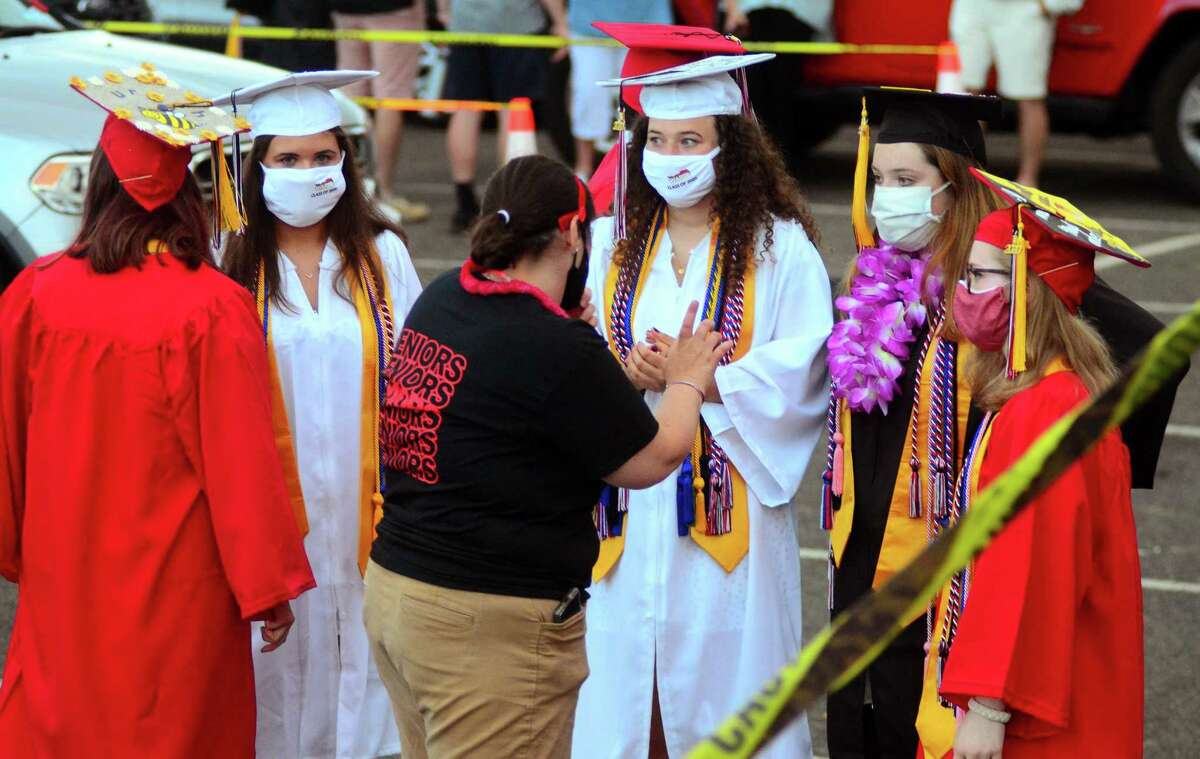 Fairfield Warde High School's Commencement Exercises at Jennings Beach in Fairfield, Conn., on Wednesday June 17, 2020.