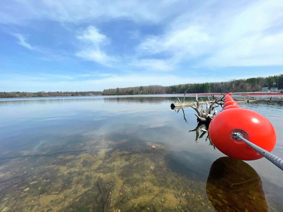 The water was calm and the atmosphere was quiet Wednesday at the Richard H. Ulrich Park. The park, located on Northland Drive at the Rogers Dam in Mecosta Township, offers great views of the dam and Rogers Pond. (Pioneer photo/Bradley Massman)