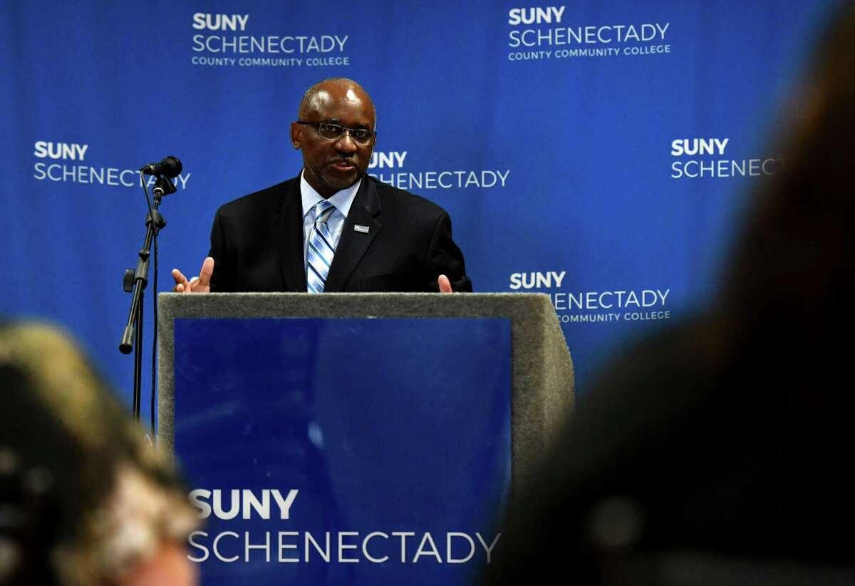 SUNY Schenectady President Steady Moono. (Will Waldron/Times Union file)