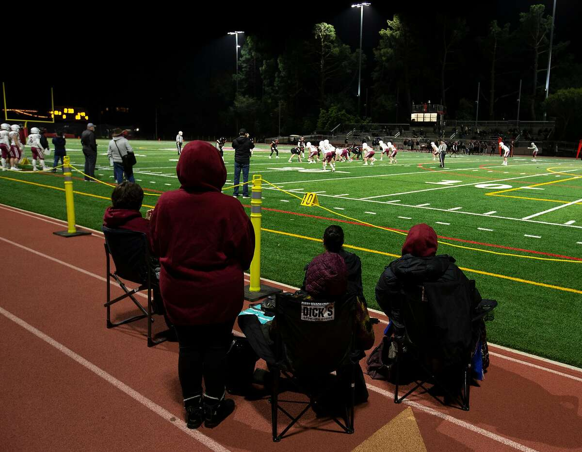 Fans of Sacred Heart Prep, here watching their team defeat Aragon last month, will have to take to the road this week as The Chronicle's No. 25 team is at Half Moon Bay on Saturday.