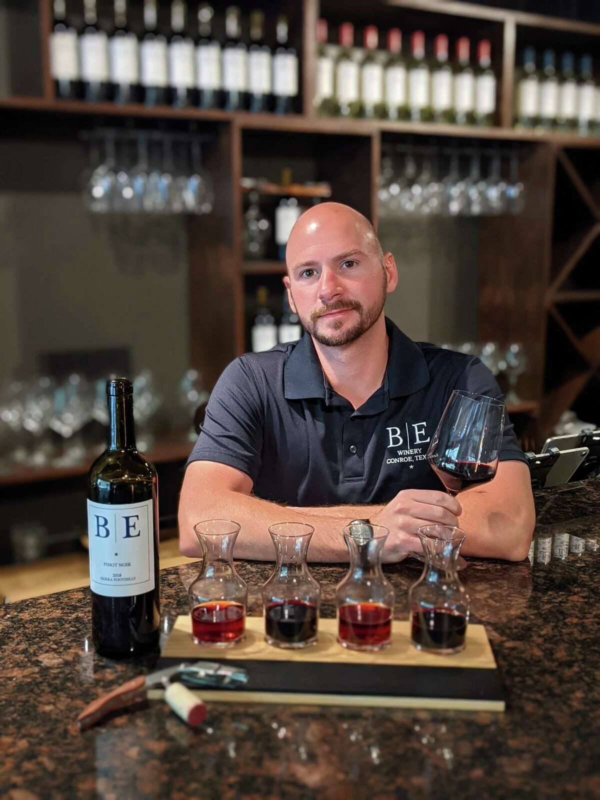 James Barber recently opened the Blue Epiphany Tasting Room in downtown Conroe at 336 N. Main, Ste 103, across from the Montgomery County Courthouse.