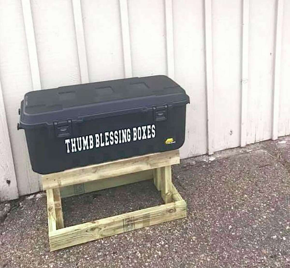 """Boxes like this are being placed in a variety of communities throughout the Thumb area. Cass City's Rotary Park is one of the newest locations to have a """"Blessing Box."""" (Courtesy Photo)"""