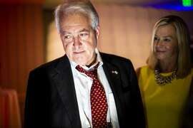 SAN DIEGO, CALIF. - MAY 05: Republican gubernatorial candidate John Cox and his wife Sarah Cox greet supporters and well wishers during Day 02 of the 2018 California Republican Party Convention and Candidate Fair at the Sheraton San Diego Hotel & Marina on Saturday, May 5, 2018 in San Diego, Calif. (Kent Nishimura/Los Angeles Times via Getty Images)