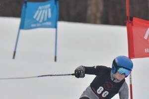 2021 boys' Alpine skiing Athlete of the Year Matthew Moeckel of Saratoga.