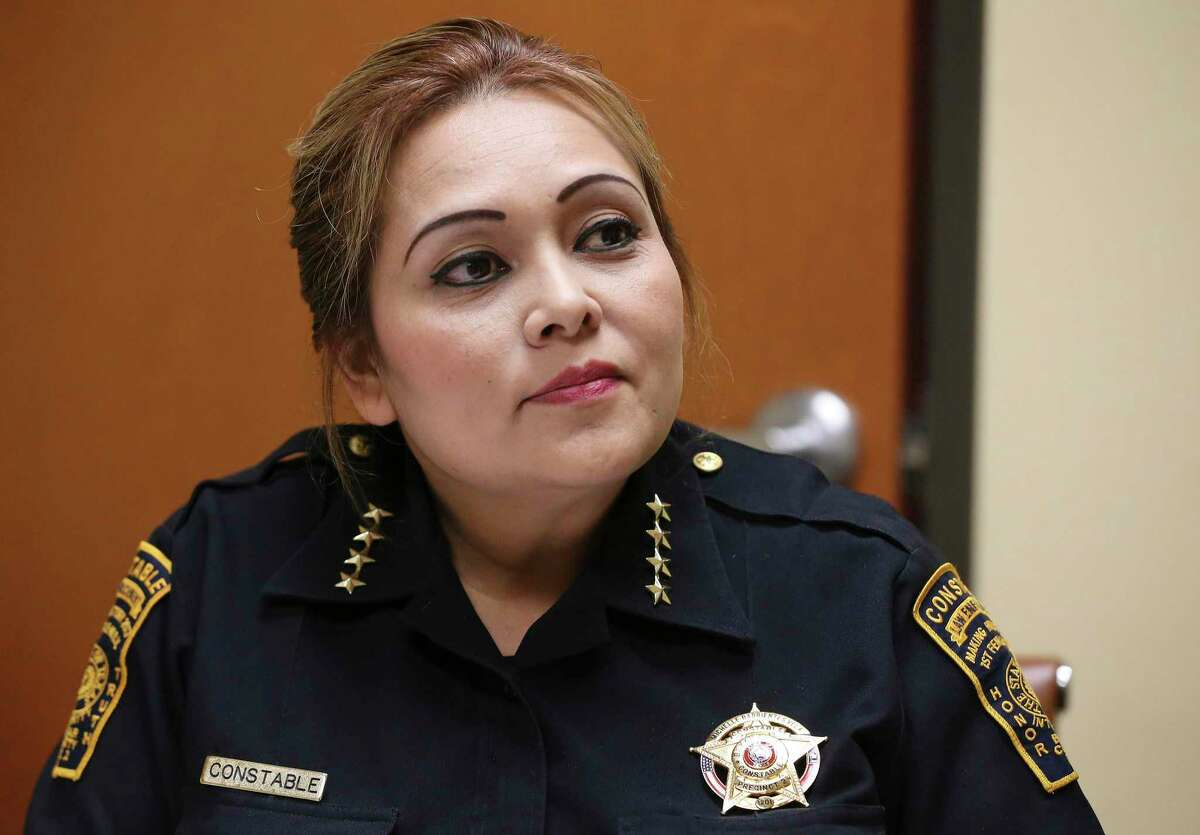 The criminal case against former Bexar County Precinct 2 Constable Michelle Barrientes Vela, shown in this file photo, was moved from Judge Ron Rangel's court after Rangel recused himself over a photograph Vela posted on her Facebook page the two of them at a human trafficking conference in 2018.