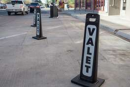 Valet parking is now available in downtown Midland, on Colorado Street, outside Opal's Table 04/07/21. Tim Fischer/Reporter-Telegram