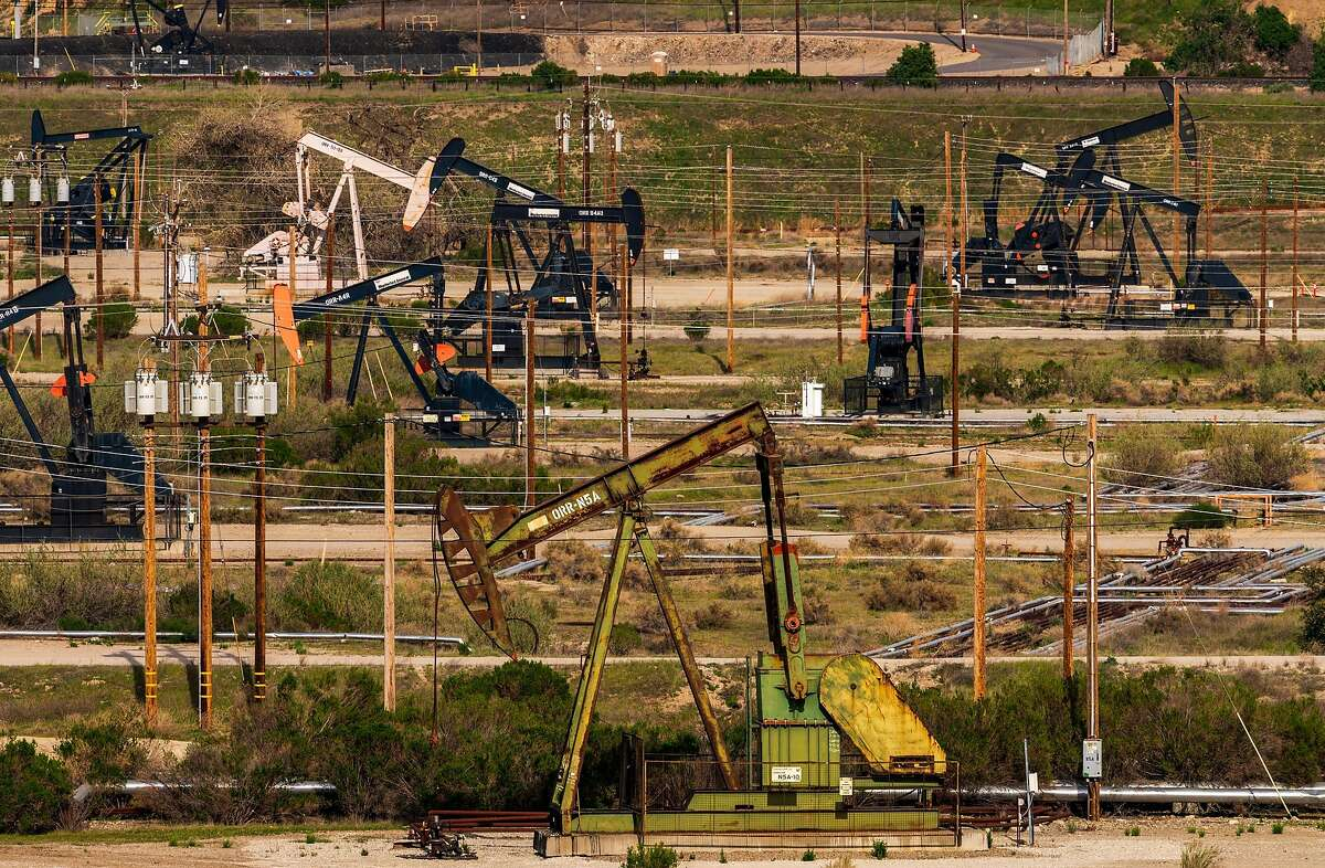 Pump jacks in Monterey County this month. State Sen. Scott Wiener's attempt to restrict oil extraction methods in California died in committee Tuesday.