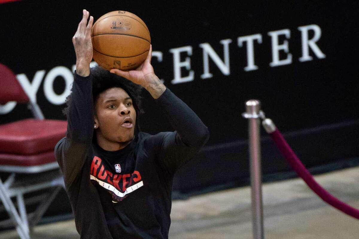 Rockets guard Kevin Porter Jr. has had double-doubles in two of his past three games, getting a career-high 14 assists Monday.