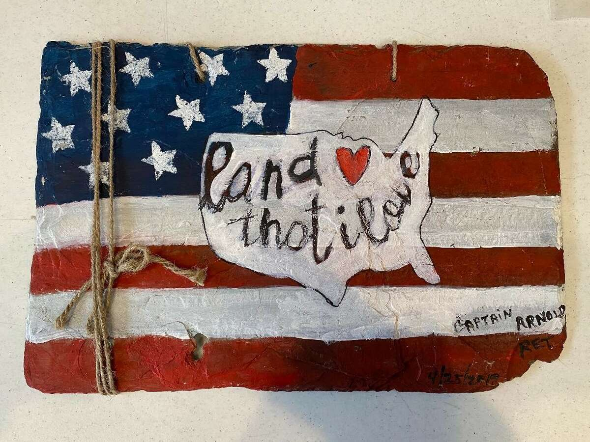 A piece of artwork that will be displayed at the Veterans memorial in Washington D.C.