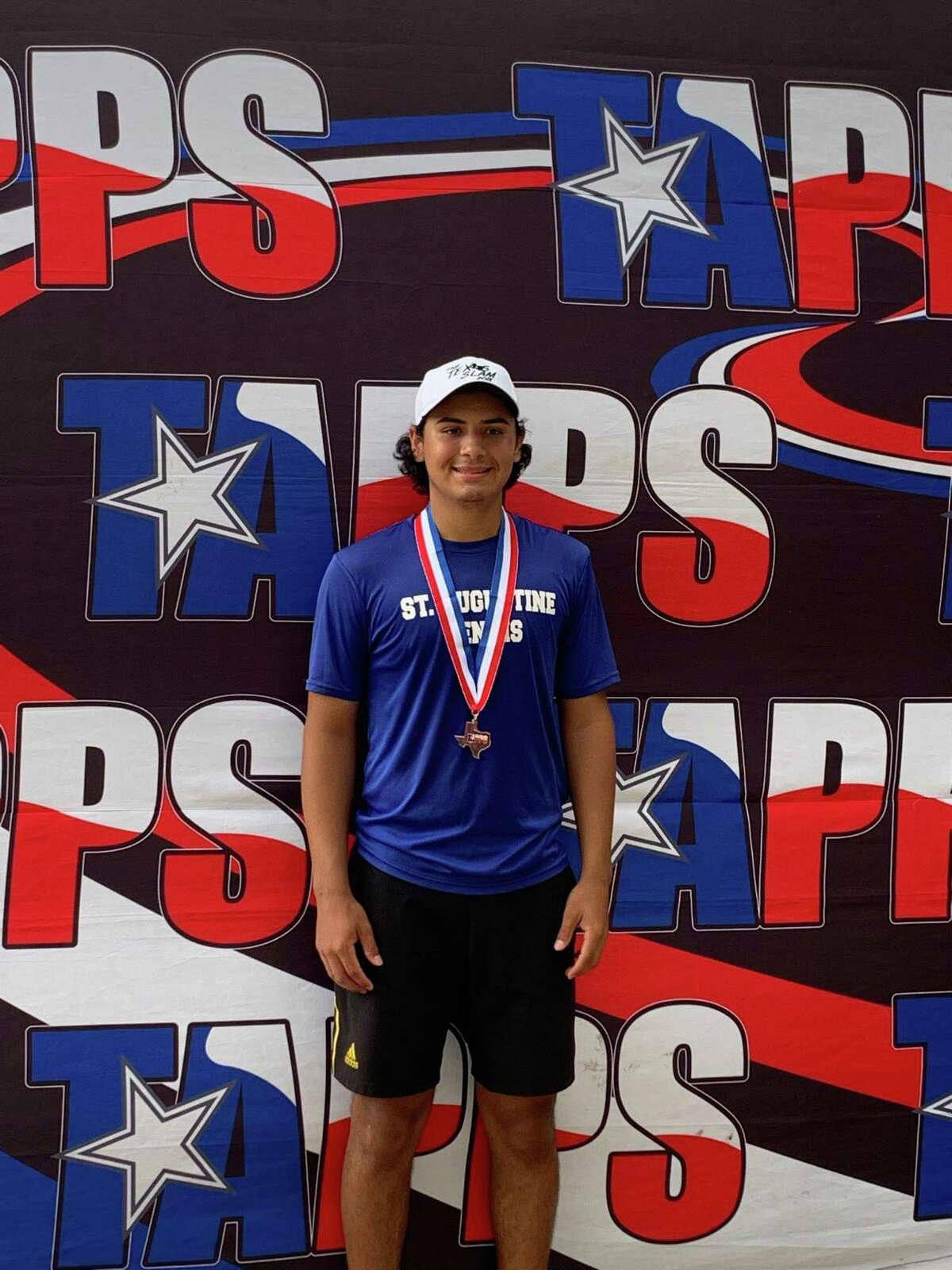 St. Augustine's Diego Romo finished third at the state meet on Wednesday.
