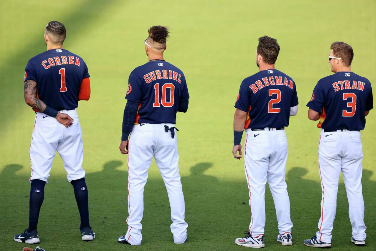 The Astros play their home opener Thursday night at Minute Maid Park.