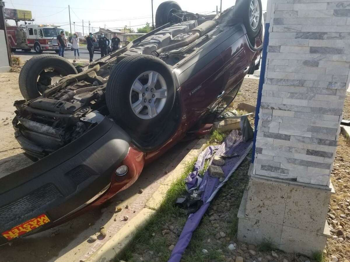 This vehicle rolled over near the intersection of U.S. 83 and San Salvador Street. The occupant refused treatment and transport to the hospital.