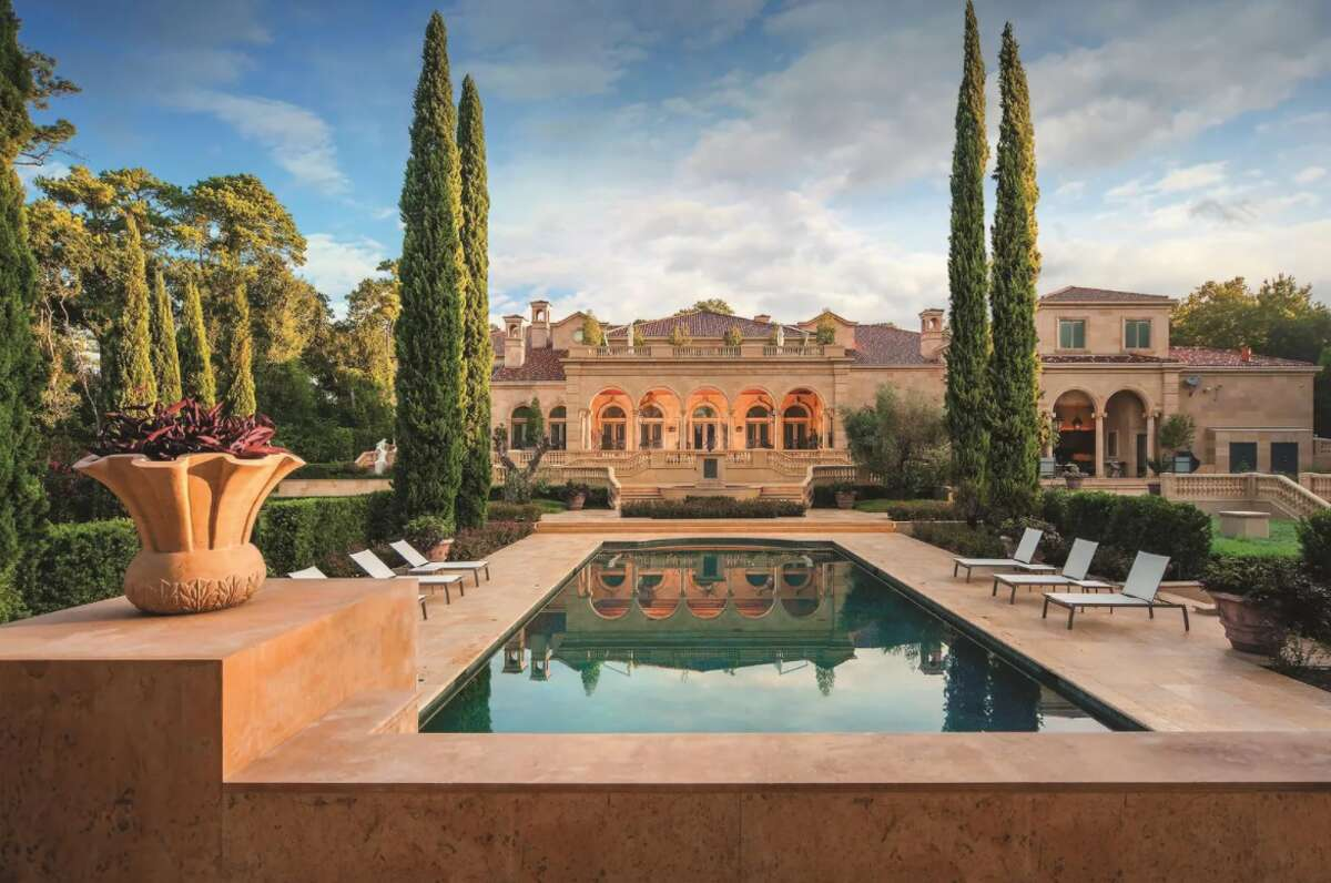 This beautiful home sits on 2.5 acres in Houston's Memorial area.
