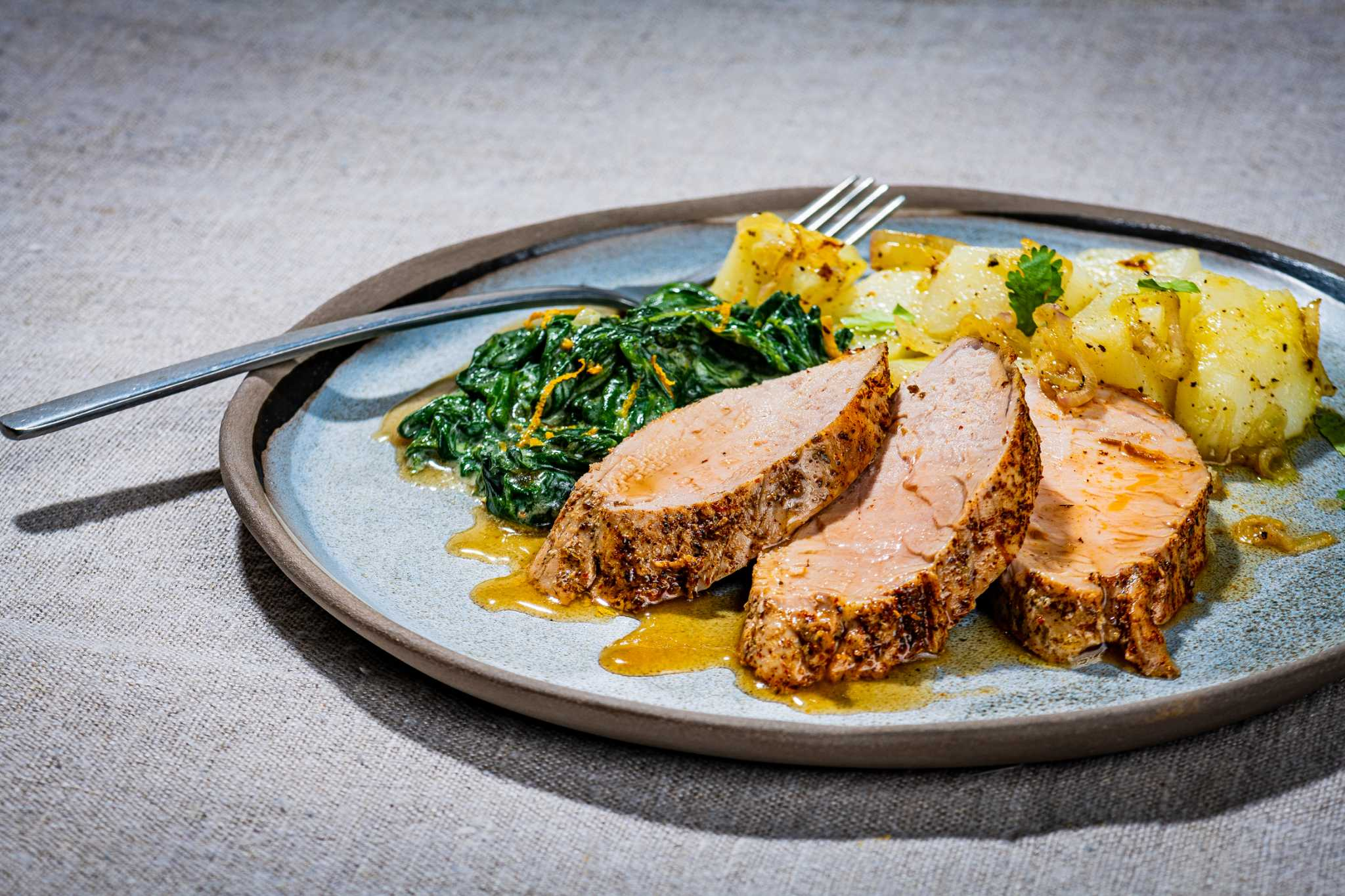 A pernil-style pork tenderloin that conjures the smells of a Puerto Rican kitchen