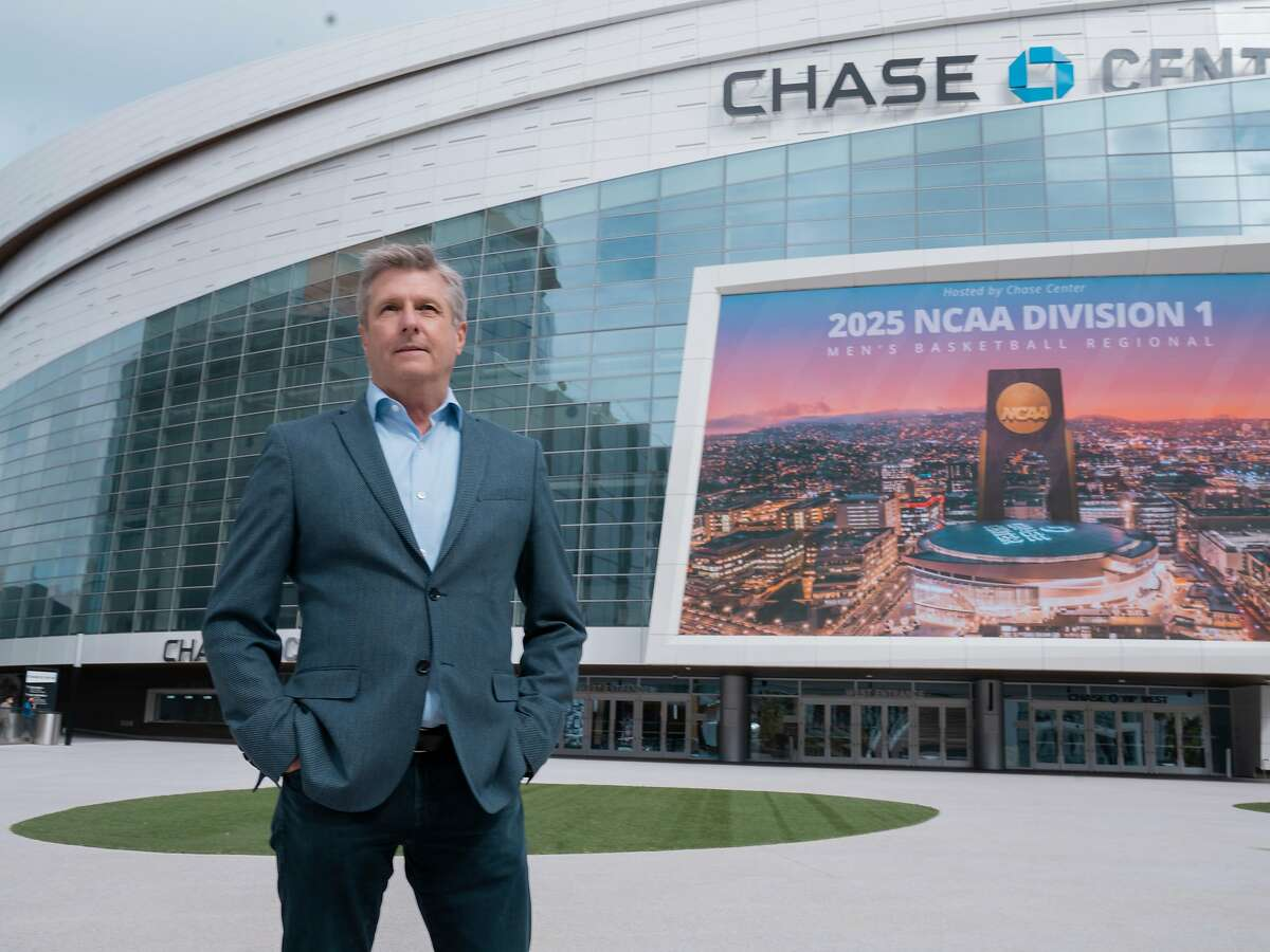 Hall of Famer and Warriors president Rick Welts stands outside the Chase Center, which he was in charge of building.