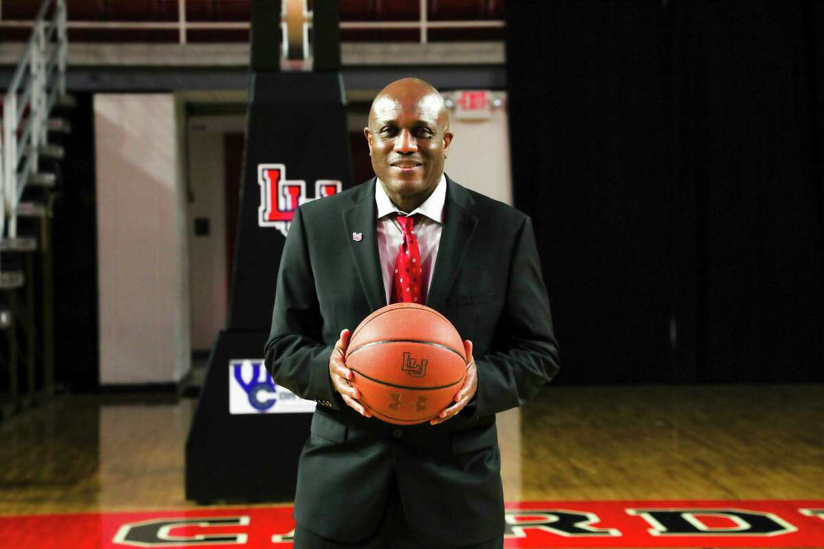 New Lamar University basketball coach Alvin Brooks was introduced Wednesday during a press conference at the Montagne Center in Beaumont.