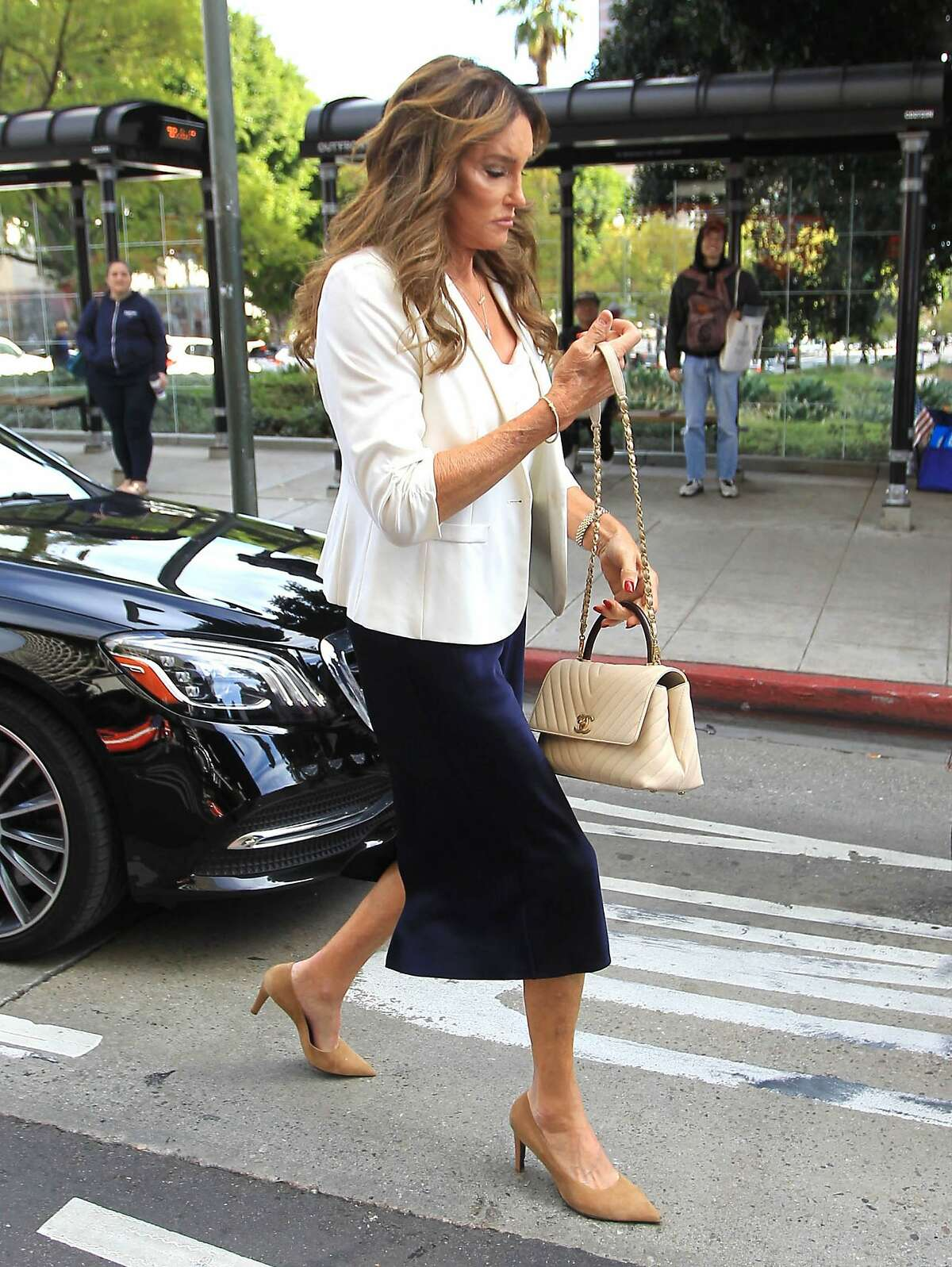 Caitlyn Jenner's manager has denied reports that she is considering challenging Gov. Gavin Newsom.