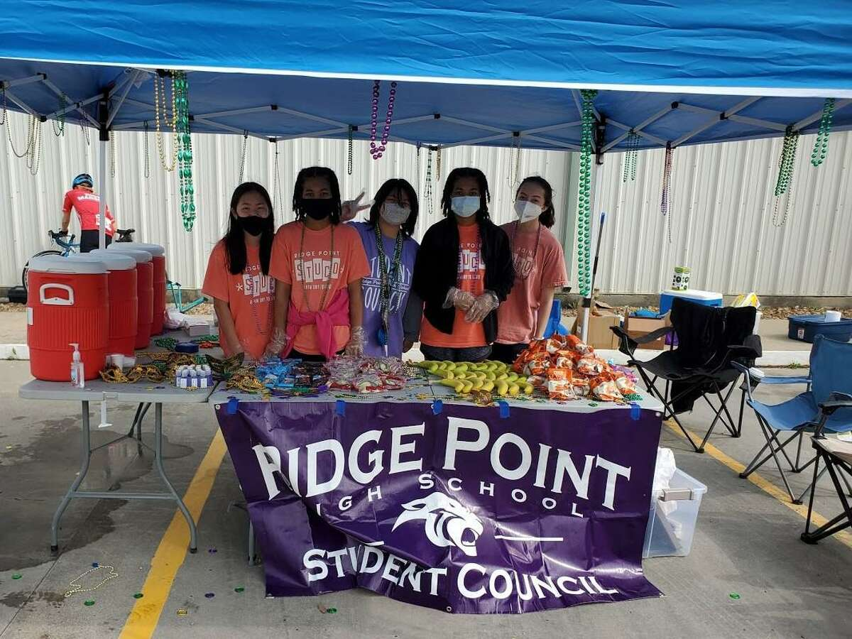 Pictured from left at Maresa Blanchard, Aniyah Mack, Danica Yuen, Alyssah Mack and Teresa Maguadog on Saturday, March 27, during the Fort Bend Education Foundation's18th Annual Zuhnë Education Expedition bike ride.