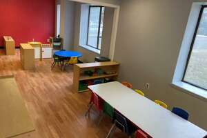 The interior of Minds in Motion, a child care center for children aged three to 12 in New Milford, which opens this month.