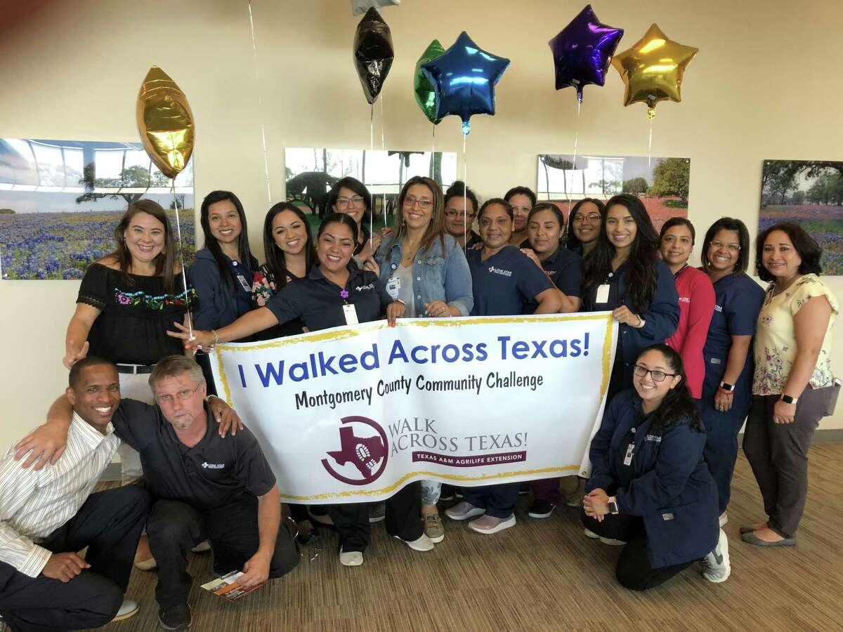 The 2021 Montgomery County Walk Across Texas Community Challenge currently is underway having kicked off on April 1. Walk Across Texas (WAT) is an eight-week program designed to help people of all ages establish the habit of regular physical activity. Register a team of up to eight people or sign up as an individual 1 to go the distance of 832 miles or the distance it would take to walk across Texas. Pictured here is a team from the Lone Star Family Health Center in Conroe that participated in the 2019 WAT challenge.