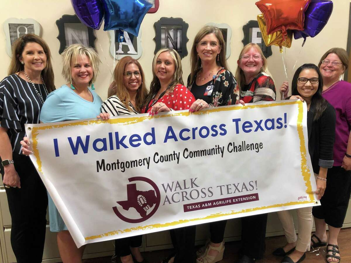 The 2021 Montgomery County Walk Across Texas Community Challenge currently is underway having kicked off on April 1. Walk Across Texas (WAT) is an eight-week program designed to help people of all ages establish the habit of regular physical activity. Register a team of up to eight people or sign up as an individual 1 to go the distance of 832 miles or the distance it would take to walk across Texas. Pictured is a team from the Montgomery County Sheriff's Office that participated in the 2019 event.